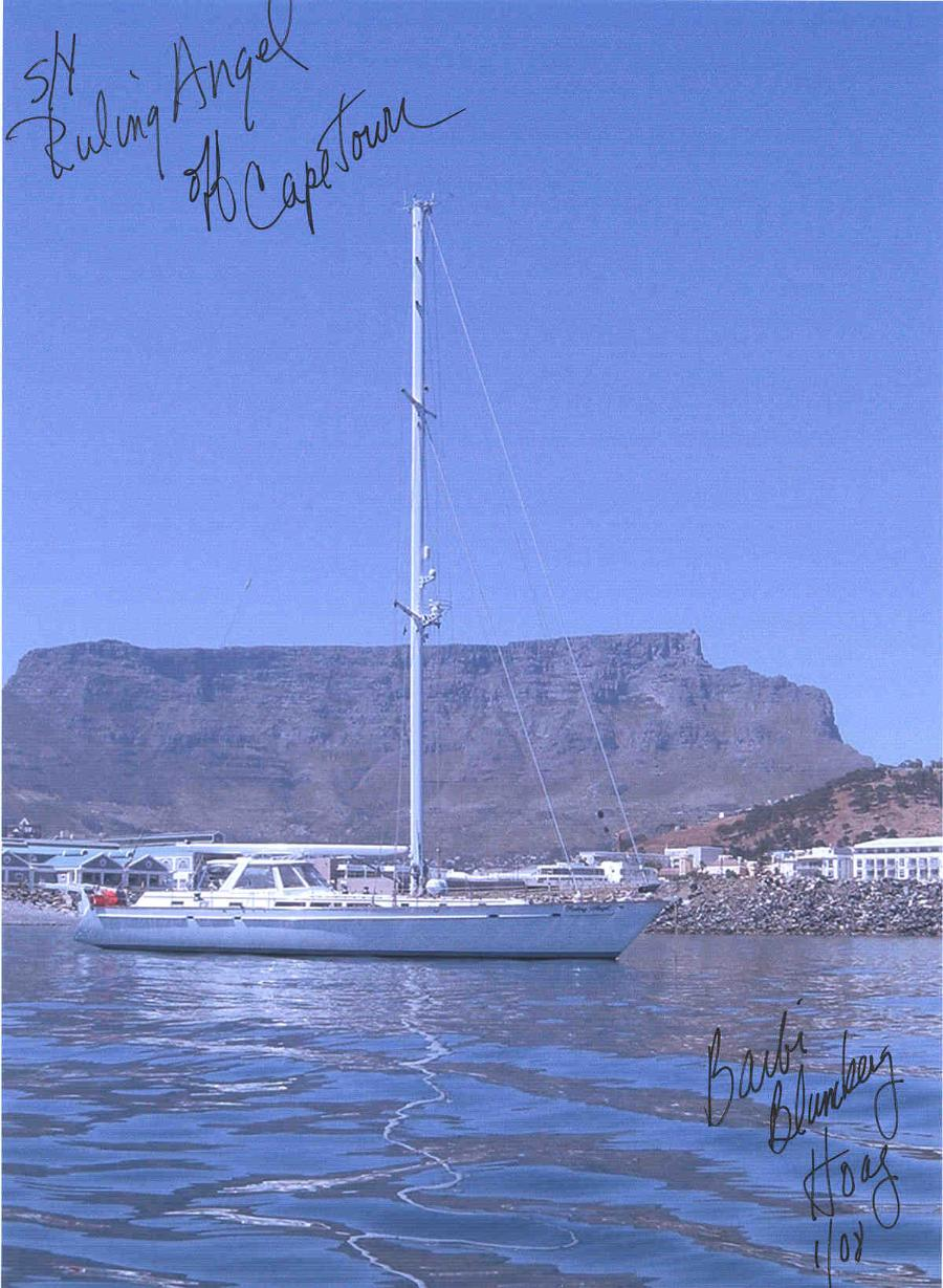 Ruling Angel anchored off Cape Town, S. Africa